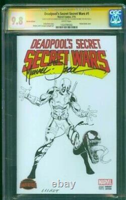 Deadpool Secret Wars 1 CGC 9.8 2XSS Original art vs Venom 8 Zeck Homage Sketch