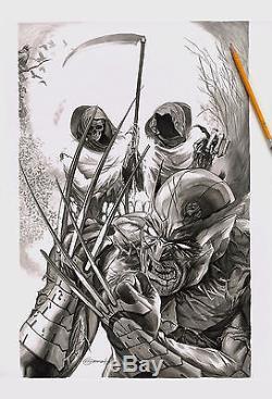 Death of Wolverine #1 Salt Lake City Con variant ORIGINAL COVER ART by Greg Horn