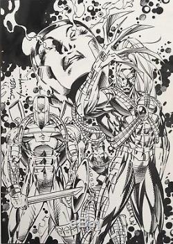 Deathmate Original Trading Card Art Jim Lee & Scott Williams Image Comics