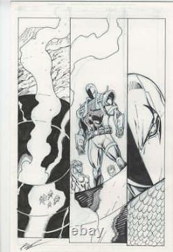 Deathstroke Vol 2 #10 Page 7 Original Art Rob Liefeld 17in x 11 DC Artwork 2012