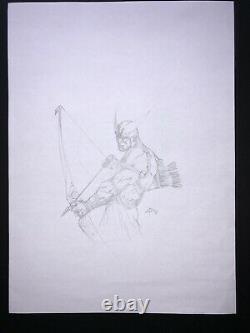 Dell'Otto Hawkeye Avengers Sketch ORIGINAL ART Marvel
