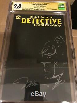 Detective Comics 1000 Jim Lee Batman Sketch Cgc Ss 9.8 Original Art Black Blank