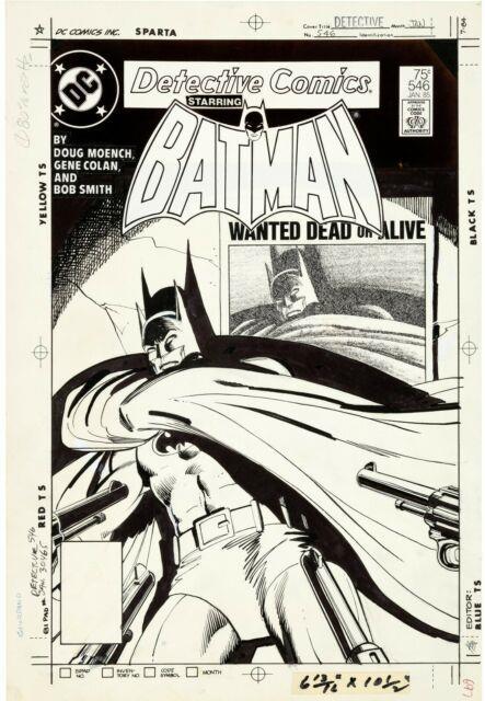 Dick Giordano Detective Comics #546 Cover (dc, 1985) Original Comic Art