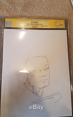 Dk III Dark Knight Returns Frank Miller Original Batman Sketch Signed & Cgc