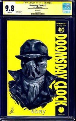 Doomsday Clock #12 BLANK CGC SS 9.8 signed Rorschach PAINTED SKETCH Desjardins