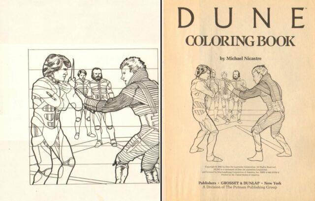 Dune Coloring Book Art P. 1 Paul Atreides Vs. Feyd-rautha Art By Michael Nicastre