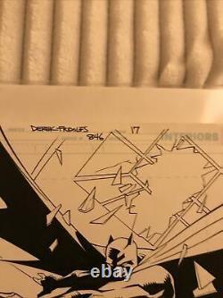 Dustin Nguyen Original Comic Art Splash Page Detective Comics 846