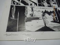 Dylan Dog # 3 Le Notti Della Luna Piena 1986 Tavola Original Art Autografata