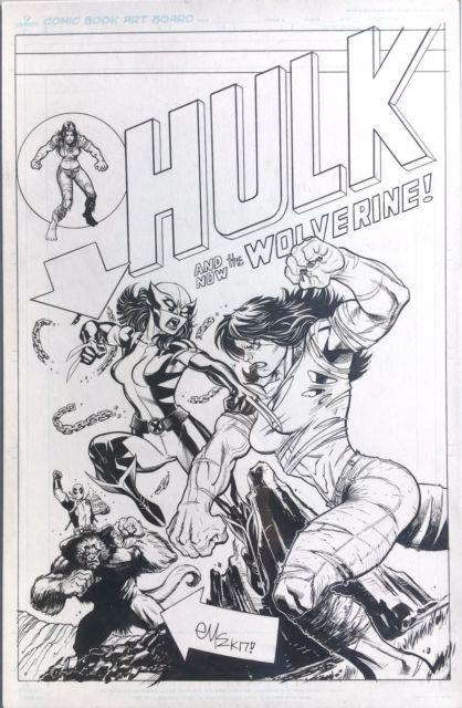 Ed Mcguinness Original Cover Art For Hulk #1 Variant Homage To Hulk #181 X23