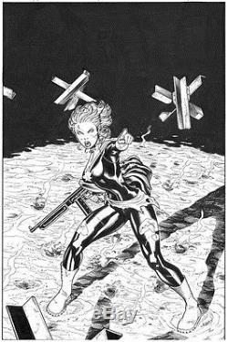 Ed McGuinness Captain Marvel original comic book cover art Ms Carol Danvers