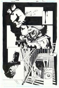 Eduardo Risso Batman #620 page7 (Broken City) original art