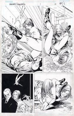 Eric Basaldua Original Comic Art Darkness Vampirella Page 17 Published In 2005