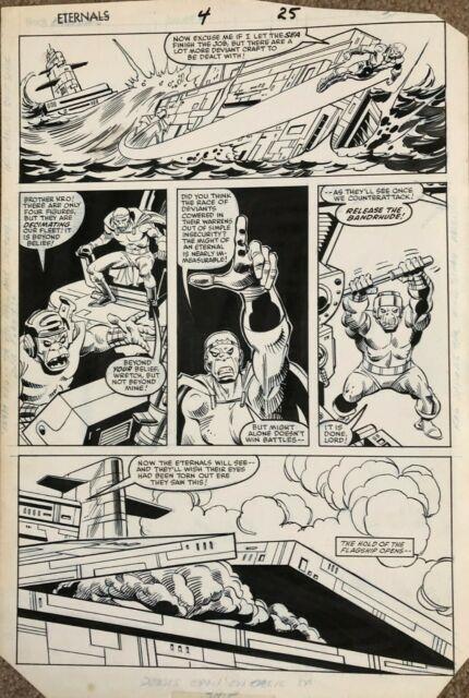 Eternals Original Art Page Issue #4 Pg #25 Sal Buscema Art