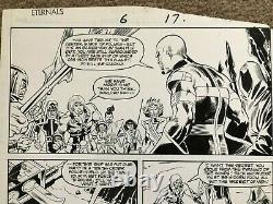 Eternals Original Comic Art Marvel Issue #6 Pg #17 Sal Buscema Art 1986