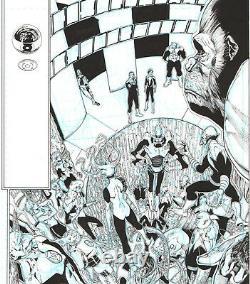 Ethan Van Sciver Green Lantern, John Stewart Splash Orig. Art! Free Shipping