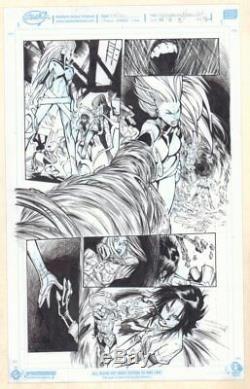 Extraordinary X-Men #4 p. 17 Great Storm Action 2016 art by Humberto Ramos