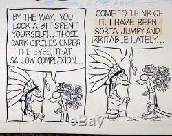 Extremely Rare Tumbleweeds Original Sunday Comic Strip Tom K. Ryan 1968