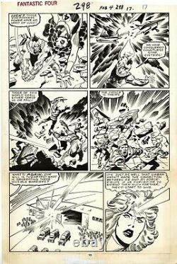 FANTASTIC FOUR #298 PAGE 13! John Buscema! Sal Buscema