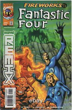 FANTASTIC FOUR Fireworks #1 original Marvel Comics COVER ART by Jeff Johnson