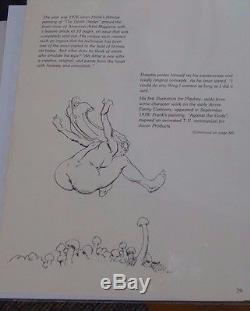 FRANK FRAZETTA'Girl with Mushrooms' PUBLISHED ORIGINAL COA Billy Frazetta