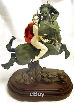 FRANK FRAZETTA STUNNING! MOON MAID Statue MIB UNDISPLAYED Sold Out RARE