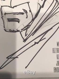 FRANK MILLER ORIGINAL Sketch Art BATMAN Signed DK III Master Race #