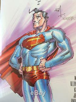 FRANK MILLER ORIGINAL Sketch Art CGC 9.8 Signed DK III Superman Batman DC Comic