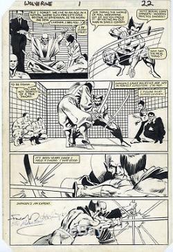 FRANK MILLER WOLVERINE Mini-Series #1 Page 22 Original Artwork Free Shipping