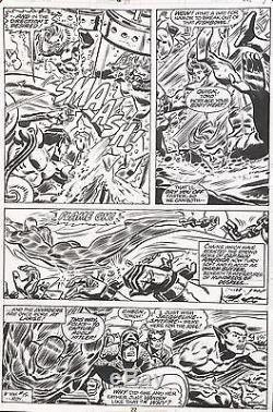 FRANK ROBBINS & Frank Springer INVADERS #17 Original Comic Bronze Art 1977
