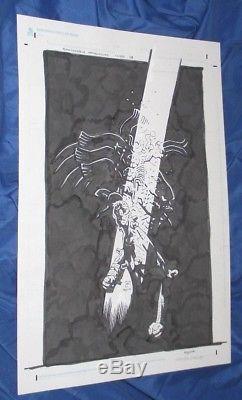 FRANKENSTEIN UNDERGROUND #1 Original Cover Art by Mike Mignola (Hellboy/Unused)