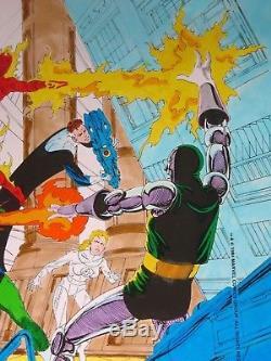 Fantastic 4 #279 Splash She Hulk Doom John Byrne Original Hand Colored Art Wow
