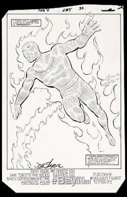Fantastic Four #285 Art by John Byrne Human Torch