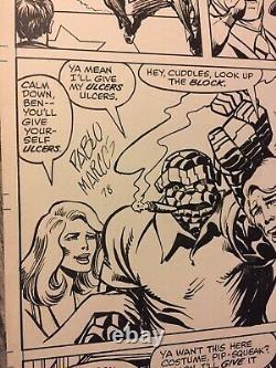 Fantastic Four John Wayne # 196 Signed Original Art 1978 Marvel Comics