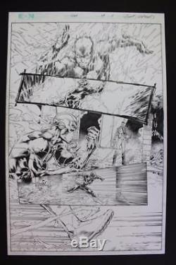 Flash #34 Half Splash Page #8 (Original Art) 2014 Brett Booth VERY COOL FLASH Pg
