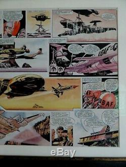 Frank Bellamy TV Century 21 1966 Thunderbirds Double page original Art