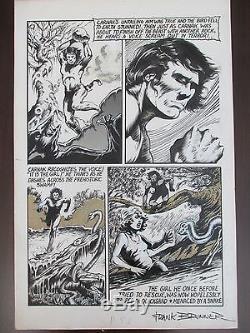 Frank Brunner Signed Original Art Castle of Frankenstein #14 Carnak Vintage