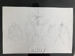Frank Cho Original Art Prelim Sketch Wolverine Art On Both Sides