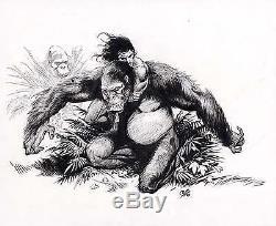 Frank Cho Original Comic Art Tarzan And The Apes Original Splash Art