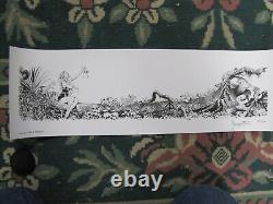 Frank Frazetta Beauty & The Beast art print signed & numbered LTD to 100