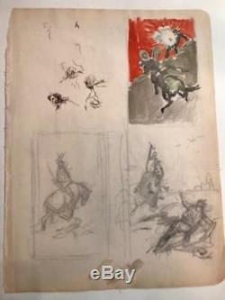 Frank Frazetta Original Preliminary Pencil Sketch