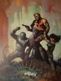 Frank Frazetta Rare Watercolor Print THE SOLAR INVASION Signed and Stamped