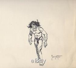Frank Frazetta Signed Original Art Caveman Drawing Russ Cochran Provenance Conan