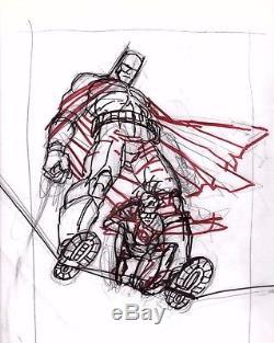 Frank Miller 10th Anniversary Dark Knight Returns Original Art Pinup Prelim