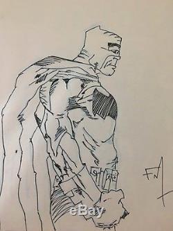 Frank Miller original Batman sketch Original art
