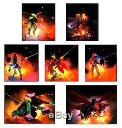 Frazetta Ken Kelly 7 Original Micronauts Microman Paintings Cover Card Art Mego