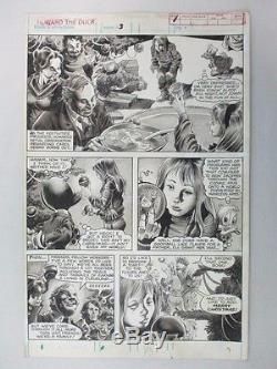 GENE COLAN Howard The Duck Magazine Original Art Issue #3 Page 7 Marvel