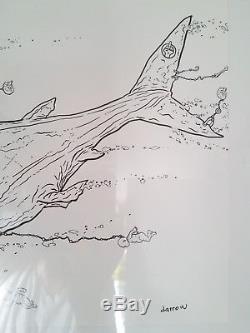 GEOF DARROW original art! Signed & Beautifully illustrated. Pen & Ink