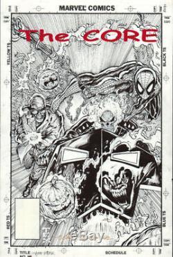 GHOST RIDER # 16 Original GRAIL COVER ART 1991 SPIDER-MAN Hobgoblin TEXEIRA