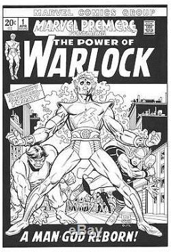 GIL KANE Marvel Premire Warlock #1 original art Cover Recreation