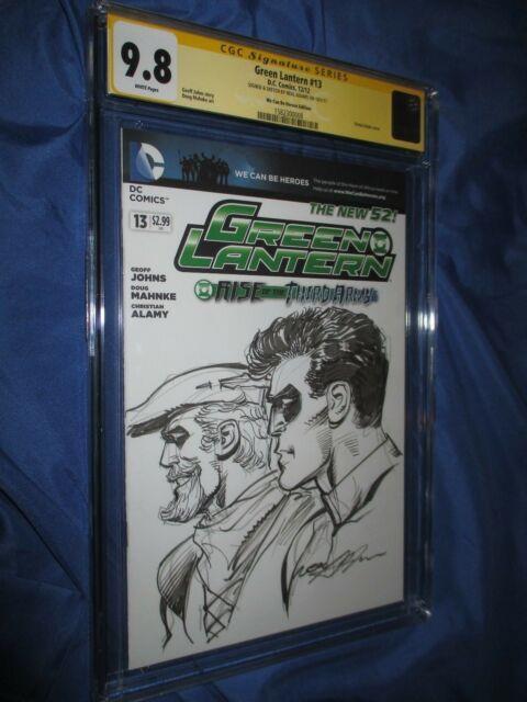 Green Lantern #13 Cgc 9.8 Ss Signed & Original Art Sketch By Neal Adams Arrow